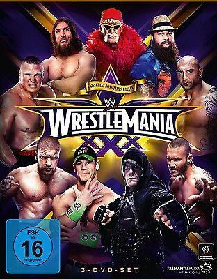 WWE Wrestlemania 30 XXX 2014 [3x DVD] + Hall of Fame Zeremonie *NEU* DEUTSCH