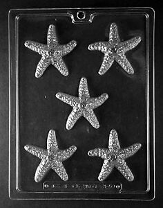STARFISH Chocolate Candy Soap molds kids party favor ocean beach summer nautical