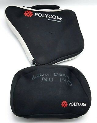 Polycom Soundstation 2 Conference Speaker Phone W Wall Module And Cases