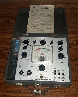 Vintage Olson Tube Valve Portable Tester Model Kb142 W Manual Estate Sale Find