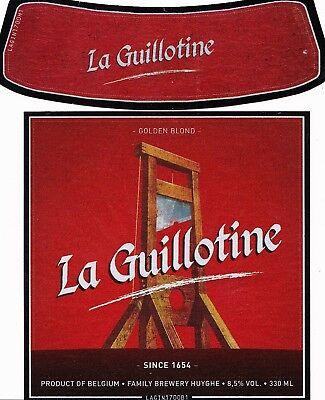 LA GUILLOTINE - GOLDEN BLOND - SINCE 1654 - STRONG BEER - BELGIEN 2018