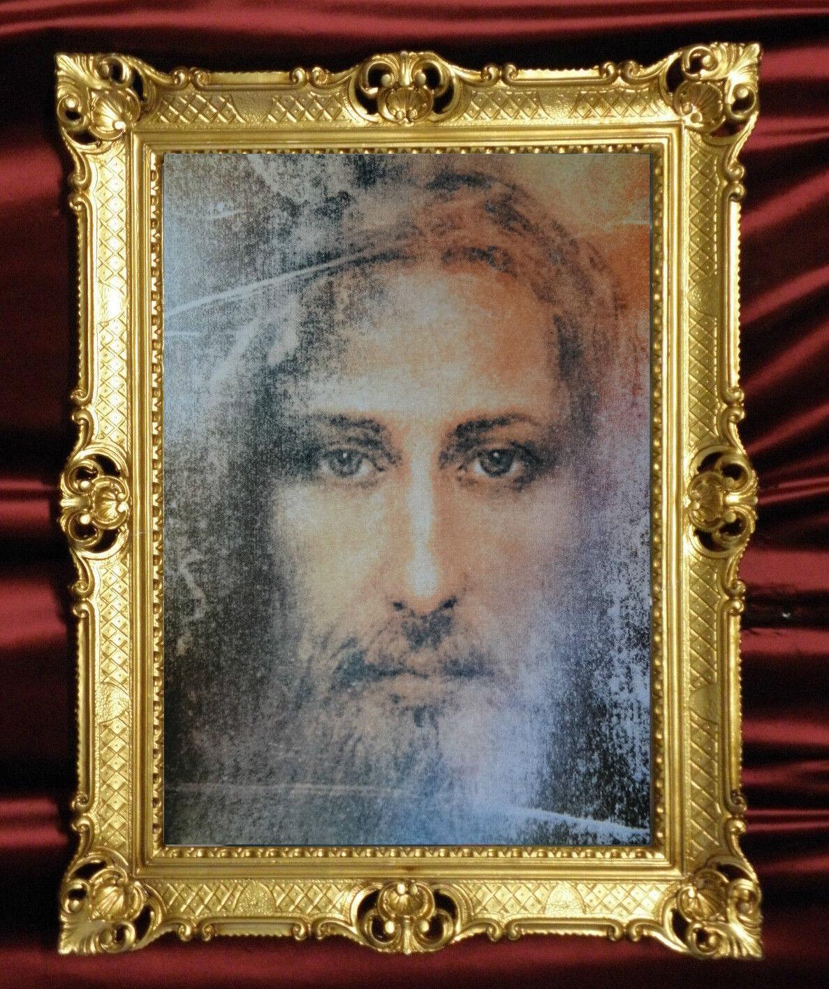 Heiligenbild mit Rahmen BILDERRAHMEN GEMÄLDE JESUS REPRO ANTIK ...