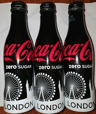 Coca Cola Zero Sugar Aluminium Bottle London Skyline 2016 Limited Edition Bottle