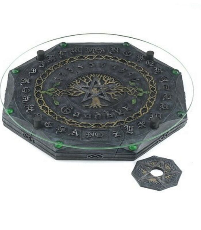 Tree of Life with Pentagram Wiccan Ouija Board with Planchette