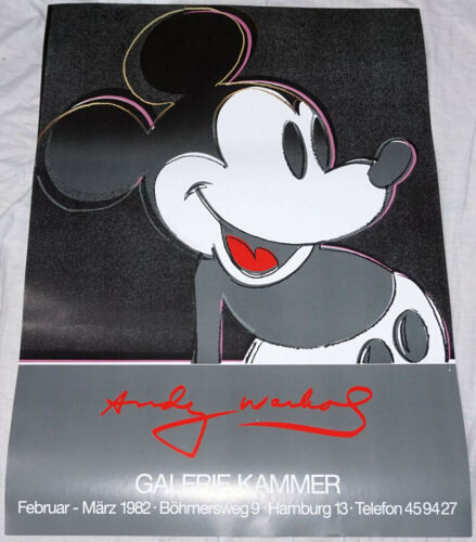MICKEY+MOUSE+%2A+Andy+Warhol+%2A+33%22%2F24%22+exhibition+poster+%2A+rolled+%2A+mint