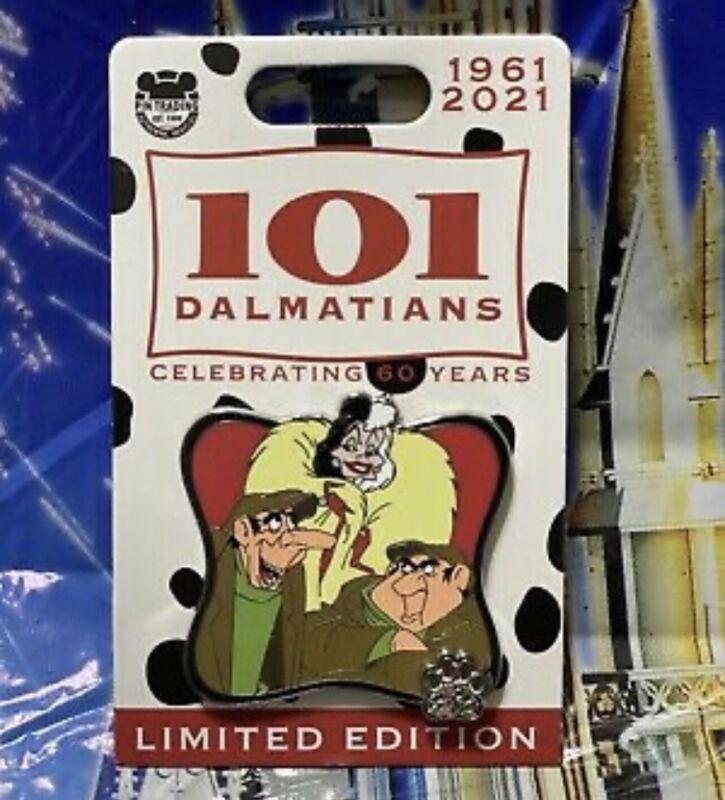 Disney 101 Dalmatians 60th Anniversary Cruella Deville Horace Villain LE Pin