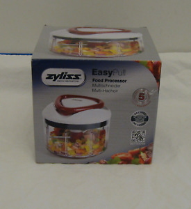 Zyliss Easy Pull Manual Food Processor-NEW-Chops & Purees