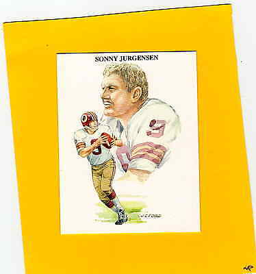 1989 TV-4 SONNY JURGENSEN Washington Redskins Rare Card