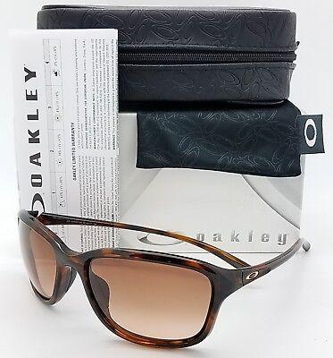NEW Oakley She's Unstoppable sunglasses Tortoise VR50 Brown Gradient 9297-04 NIB