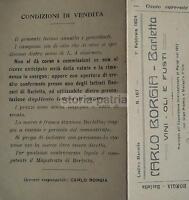 Enologia_vino_olio_antico Listino_puglia_barletta_borgia_pieghevole D'epoca_1924 -  - ebay.it