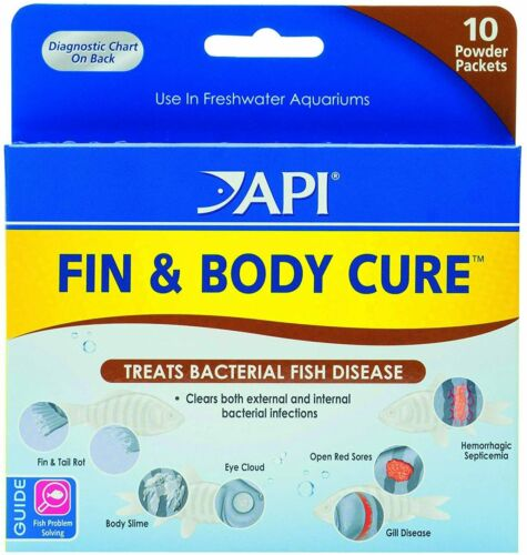 API Fin Body Cure Freshwater Fish Powder Medication, 10-Count