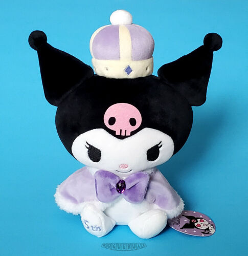 "🚦Hello Kitty KUROMI 15th Anniversary Plush - Royal Crown Sanrio 10"" - NEW MWMT"