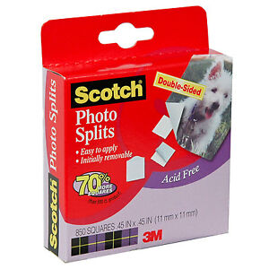 Scotch-Photo-Splits-Photo-Mounting-Squares-Box-of-850-45-x-45-Squares