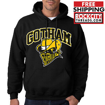 GOTHAM CITY ROGUES HOODIE Batman Hooded Sweatshirt Joker Robin Dark Knight DC](Dark Knight Hoodie)