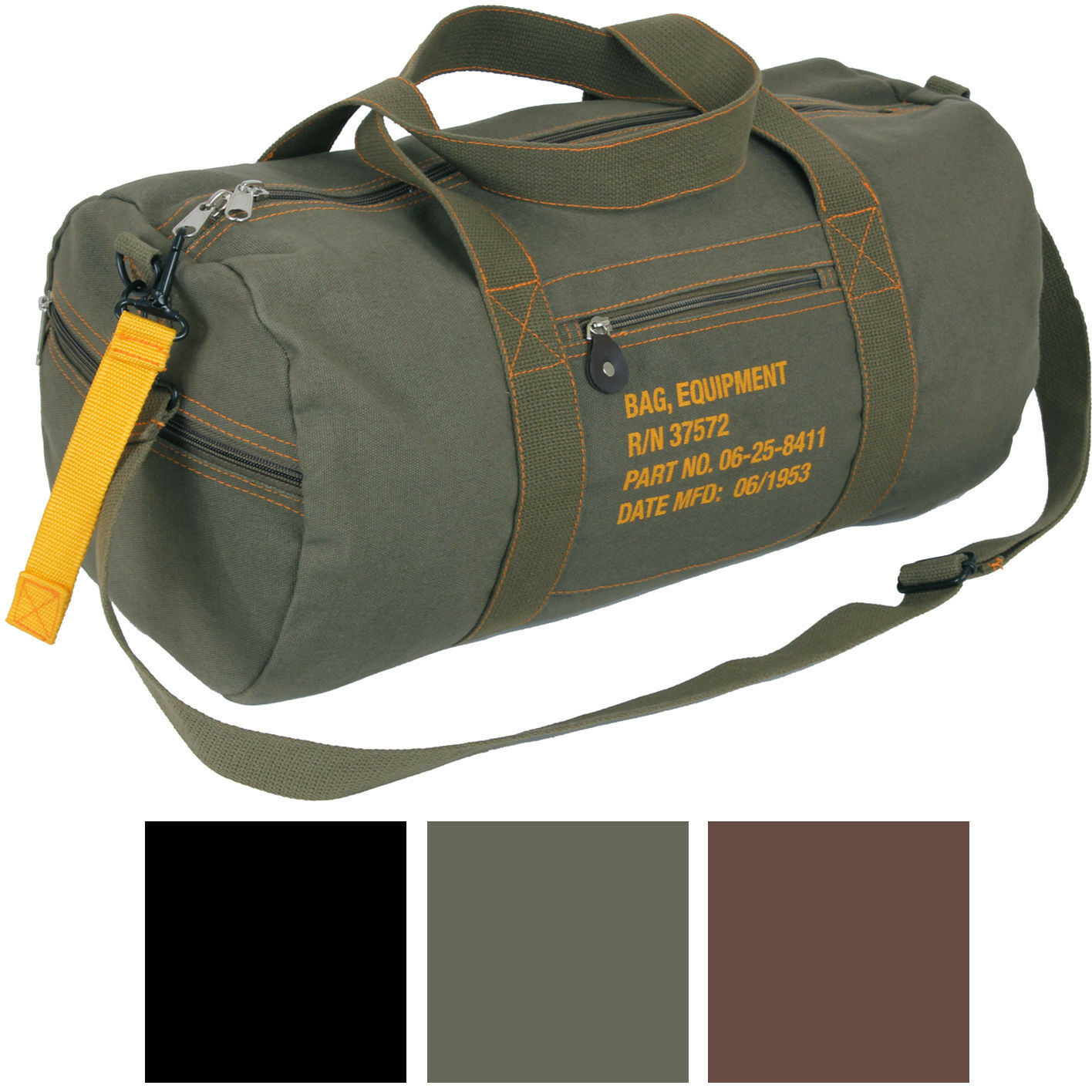 Cotton Canvas Travel Equipment Flight Carry Duffle Shoulder Bag (Small or Large) Bags