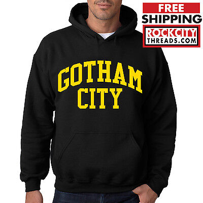 BATMAN GOTHAM CITY ORIGINAL HOODIE DC Hooded Sweatshirt Comics Joker Dark Knight](Dark Knight Hoodie)