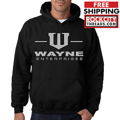 WAYNE ENTERPRISES HOODIE Batman Sweatshirt Dark Knight Bruce Wayne Comic Mens US](Dark Knight Hoodie)