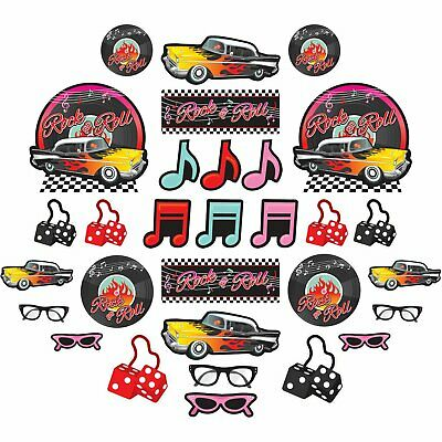 Value Pack Cut Outs (Mega Value Pack of 30 1950's Rock & Roll Themed Cut-Outs Party Decorations - New)