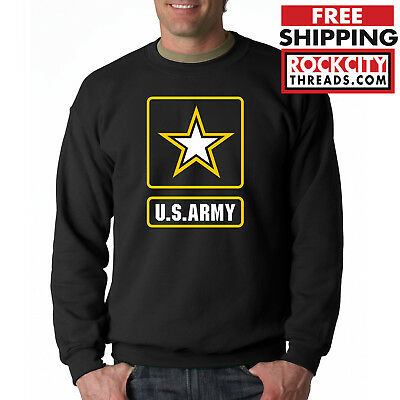 Army Logo Hooded Sweatshirt - ARMY LOGO CREW NECK Sweatshirt United States Military Usarmy Ranger US USA