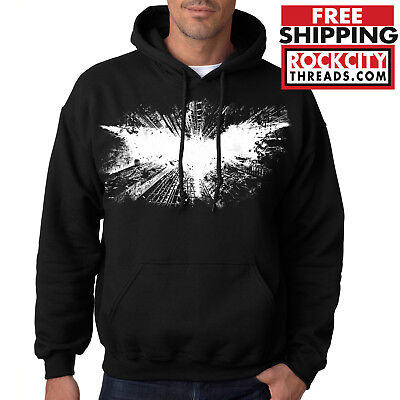 BATMAN DARK KNIGHT HOODIE Comic Hooded Sweatshirt Joker Robin Symbol DC Rises](Dark Knight Hoodie)