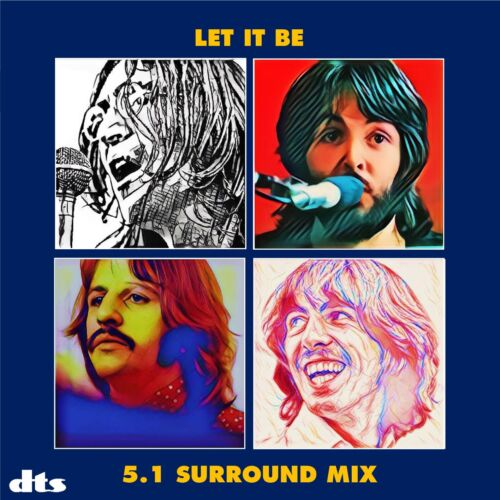 The Beatles - Let It Be - DTS 5.1 Surround CD With 10 Bonus Tracks 2021 Get Back
