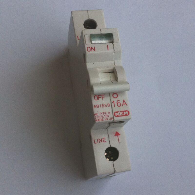 MEM AB16SB CIRCUIT BREAKER 16 AMPS 1 POLE