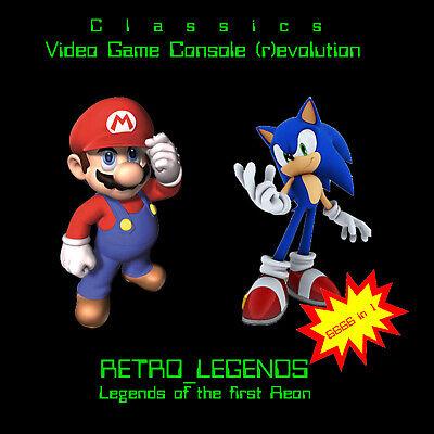 Retro Legends Emulation DVD 6666 Games! SNES/N64/MEGADRIVE/MAME/NEOGEO/ATARI/NES