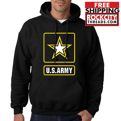 Army Logo Hooded Sweatshirt - ARMY LOGO HOODIE United States Military Usarmy Ranger US Hooded Sweatshirt USA