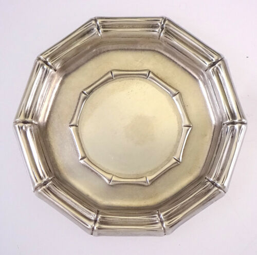 Vintage Tiffany & Co. Sterling Silver Bamboo Pattern Coaster