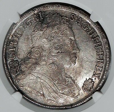 Click now to see the BUY IT NOW Price! HUNGARY 1732 CHARLES VI SILVER THALER NGC MS61