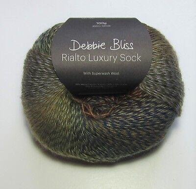 100 gm ball of Debbie Bliss RIALTO LUXURY SOCK knitting yarn Color #20 WOODSTOCK