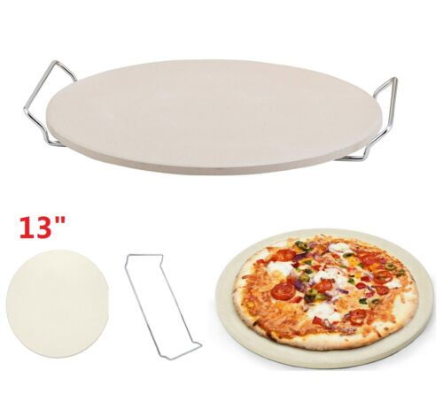 "13"" Round Engineered Tuff Cordierite Durable Baking Pizza St"