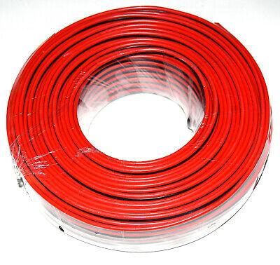 Cable altavoz rojo negro CCA 2x1.5mm rollo 50m.