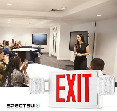 Led Emergency Lighting With Battery Backup Commercial Emergency Exit Signs Set