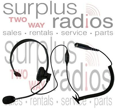 Single Ear Boom Mic With Ptt Vox Headset Motorola Ht750 Ht1250 Ht1250ls Ht1550