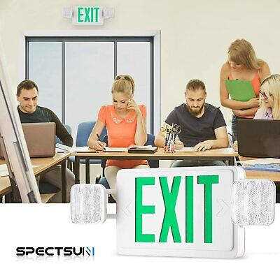 Spectsun Led Emergency Lighting With Battery Backup Ul Exiting Safety Signs Set
