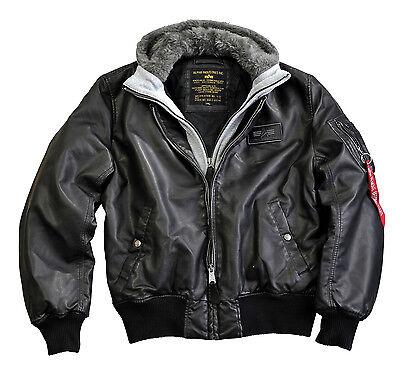 291ea7873 Details about Alpha Industries Ma-1 D-Tec Fl Leather Jacket Flight Bomber  Jacket Bomber Jacket