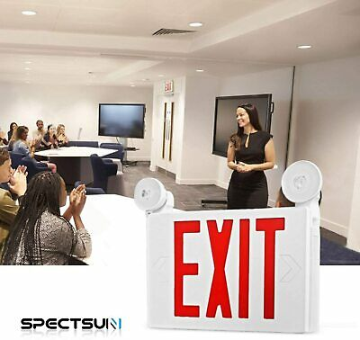 Led Red Exit Signs Emergency Lighting With Battery Backup Abs Housing Led Head