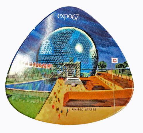 "Expo 67  Montreal Canada Pavilion 5"" Ash Tray Change Dish Ornamin by Ornamold"