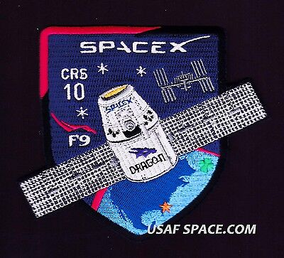 NEW CRS-10 - SPACEX ORIGINAL FALCON-9 DRAGON F-9 ISS NASA RESUPPLY Mission PATCH