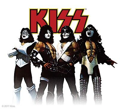 Sticker Kiss Band Members in Character Costume Pose Rock Metal Music Decal - Kiss Band Costume