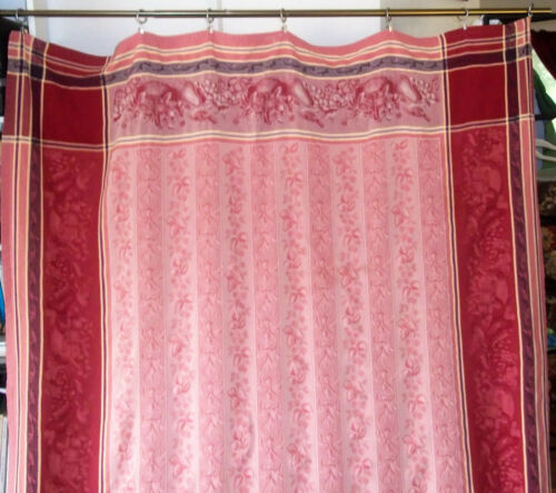 Rare, French designer De Solene jacquard cotton fabric bedspread coverlet panel!