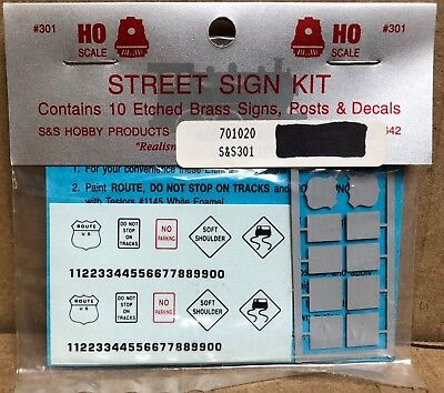 S&S Hobby Products #301 HO Scale (US Route, No Parking, Etc) Street Sign Kit