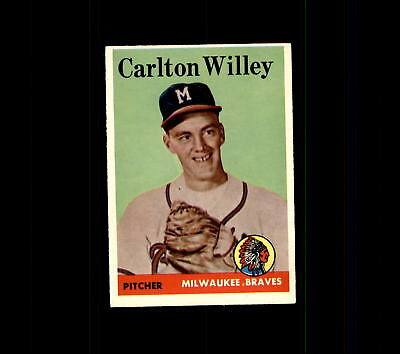 1958 Topps 407 Carlton Willey Rc Ex  D448614