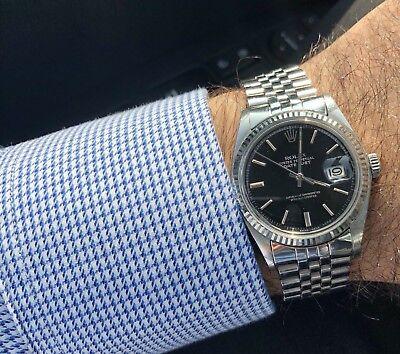 Rolex Datejust 1601 - Vintage 36mm - Men - Automatic- Black Dial Jubilee + Box