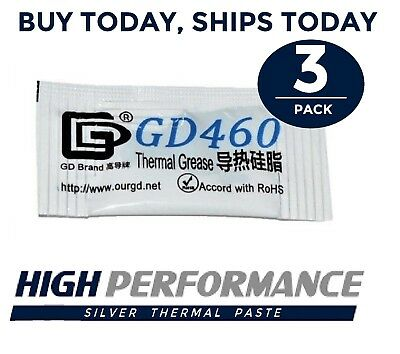 3PC LOT 0.5G High Performance Silver Thermal Paste Compound Grease CPU GPU Gray