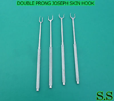 Joseph Skin Hook Set Of 4 Pieces Double Sharp Prongs Size 2mm 5mm 7mm 10mm