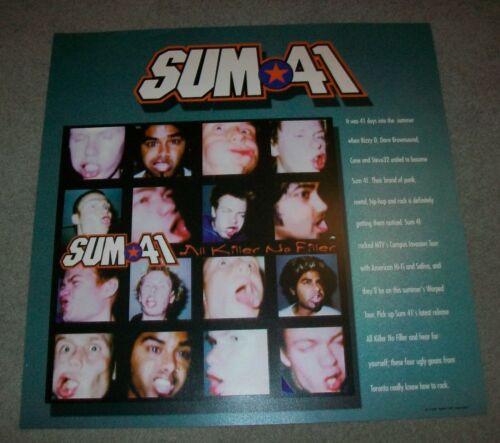 "Vintage 2001 Sum 41 All Killer No Filler Debut Album MTV Tour 26"" Plastic Poster"
