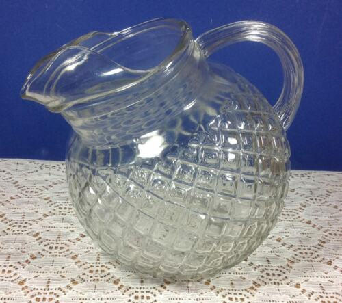 Anchor Hocking Waterford Clear 64 Ounce Tilted Ball Pitcher with Ice Lip