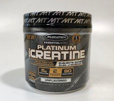 Muscletech Platinum 100% Creatine Unflavored 400 Gram (80 Serving)